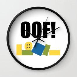 Roblox Oof Wall Clock
