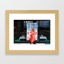 Fried Eggs on Broadway Framed Art Print