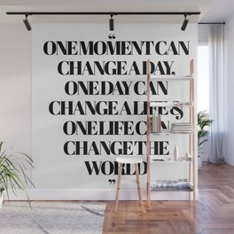 Buddha One Moment Quote Wall Mural