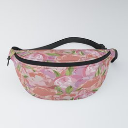 Floral Peony Pattern Fanny Pack