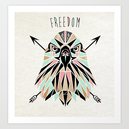 freedom eagle Art Print