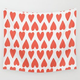 Shapes Nr. 4 - Red Hearts Wall Tapestry