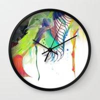 archan nair Wall Clocks featuring Azalia by Archan Nair
