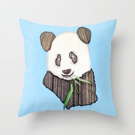 Panda Zen Throw Pillow