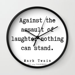 25   | Mark Twain Quotes | 190730 Wall Clock