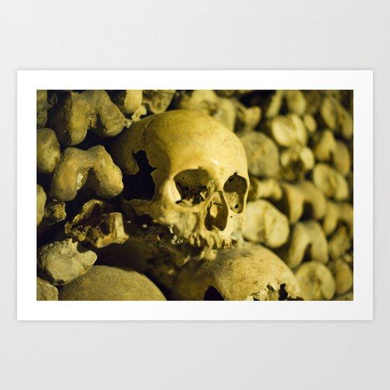 Wall of Bones Art Print