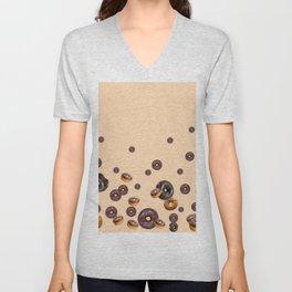 LOVE MY CHOCOLATE  DONUTS Unisex V-Neck