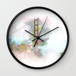 Golden Gate III Wall Clock