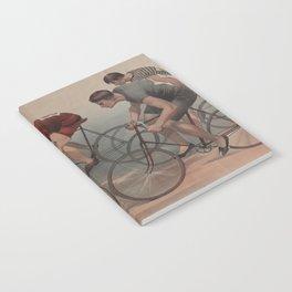 Vintage Cyclist Race Illustration (1896) Notebook
