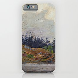 Tom Thomson - Early Morning, Georgian Bay - Canada, Canadian Oil Painting - Group of Seven iPhone Case