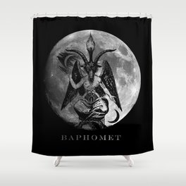 Baphomet Moon Shower Curtain