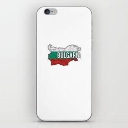 Bulgaria Patriotic Bulgarian Flag Map Symbol Nationalism Patriosm iPhone Skin