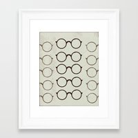 glasses Framed Art Prints featuring (Glasses) by Mr and Mrs Quirynen