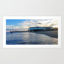 Galveston Beach Art Print