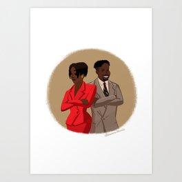 Maxine Shaw and Kyle Barker / Living Single Art Print