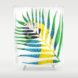 Parrot Palm Leaf Shower Curtain