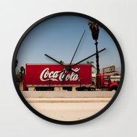 coke Wall Clocks featuring Coke Truck by Alex