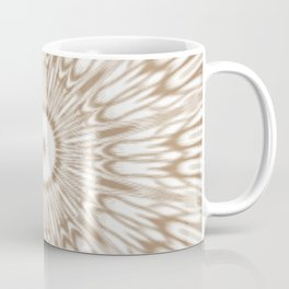 Beige Kaleidoscope Mandala Coffee Mug