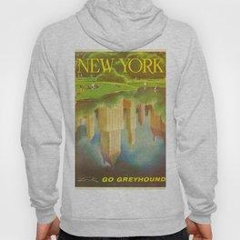 1952 Go Greyhound New York City Central Park Poster Hoody