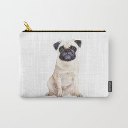 Pug, cream pug, watercolor, puppy, dog Carry-All Pouch