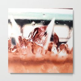 melting ice in a glass Metal Print