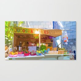 """Mexico Juice Stand Yelapa Style"" Canvas Print"