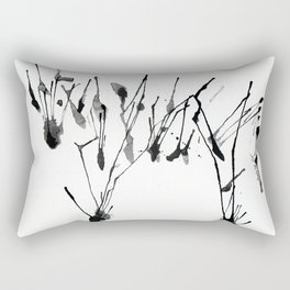 zebra ink splatter Rectangular Pillow