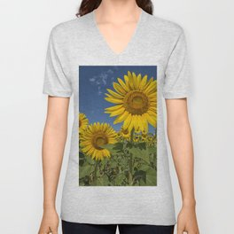 SUNFLOWERS 2 Unisex V-Neck