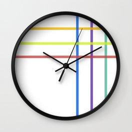 Minimal Rainbow Line Pattern Wall Clock