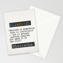Nietzsche quote Stationery Cards
