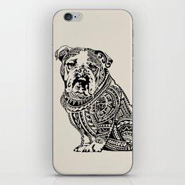 Polynesian English Bulldog iPhone Skin