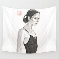 ballerina Wall Tapestries featuring Ballerina by Bryan James