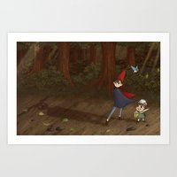 over the garden wall Art Prints featuring Over the Garden Wall by Kiell R.