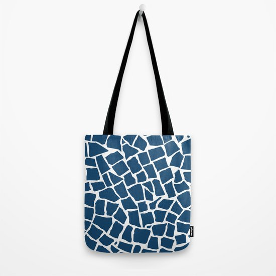 Mosaic Zoom Navy Tote Bag
