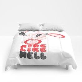 ride like hell Comforters