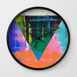 Color Chrome - triangle graphic Wall Clock