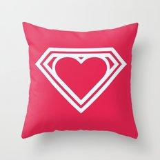 Superlove Throw Pillow