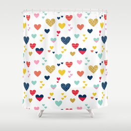 cheerful hearts Shower Curtain