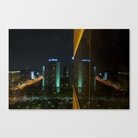 seoul Canvas Prints featuring Seoul Reflection by Anthony M. Davis