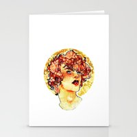 enjolras Stationery Cards featuring enjolras watercolour by chazstity