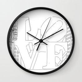 LOVE in Philadelphia, Pennsylvania Wall Clock