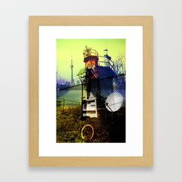 Tommy thompson park lighthouse in Toronto collage Framed Art Print