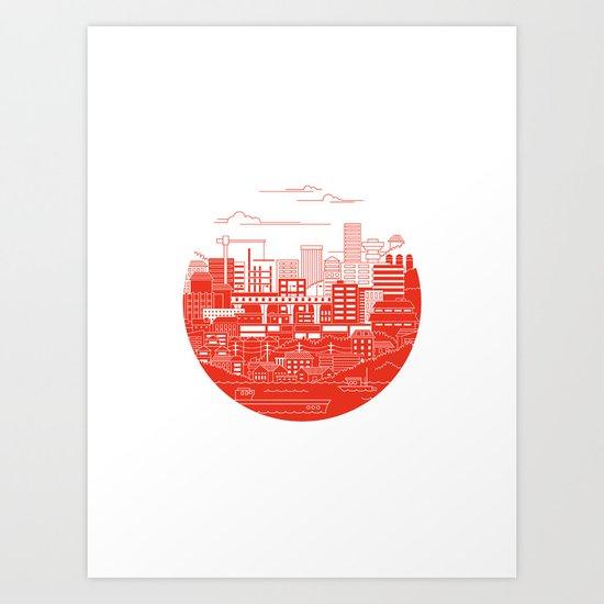 Rebuild Japan Art Print
