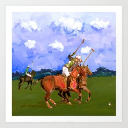 poloplayer in bavaria Art Print