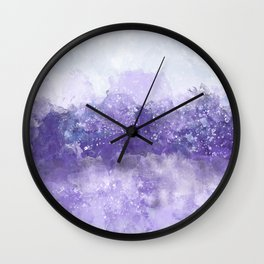 Choppy Purple Ocean Water Wall Clock