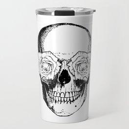 Skull and Roses | Skull and Flowers | Vintage Skull | Black and White | Travel Mug