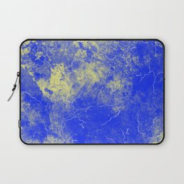 Cool Blue Yellow Marble Pattern Gift Laptop Sleeve
