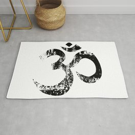 Om Rubber Stamp Rug