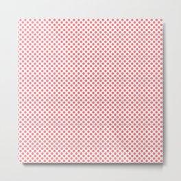 Sugar Coral Polka Dots Metal Print