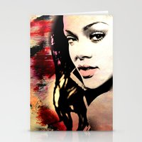 rihanna Stationery Cards featuring rihanna by mark ashkenazi